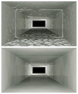 dirty duct versus clean duct